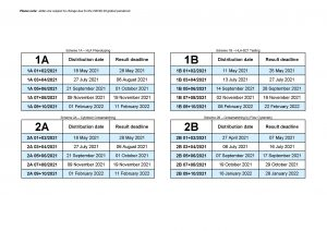 2021-2022 Dates (Printable version)